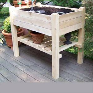 Raised Garden Planter Box w/ Lower Shelf