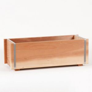 Redwood Window Boxes w/ Steel Band  ON SALE!