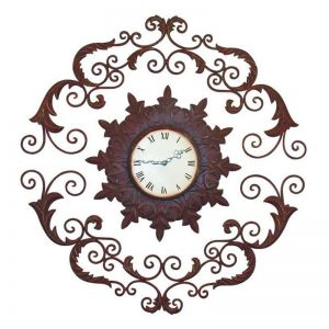 Rustic Leaf Accent Three Piece Decorative Wall Clock