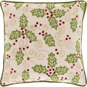 Holly Berry Indoor Pillow