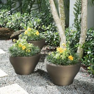 Scottsdale Tapered Bowl Planter - Choose from 3 Sizes and 5 Colors
