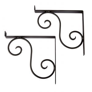 "Scroll Shelf Bracket Pair - 8 1/4"" - (Pair)"