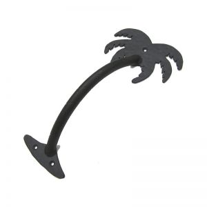 Small Palm Tree Pull Handle - Flat Black