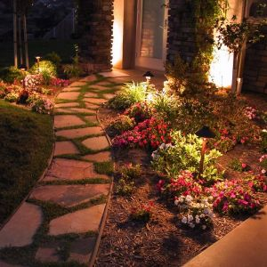 Small Standard Weathered Brass Landscape Lighting Kit