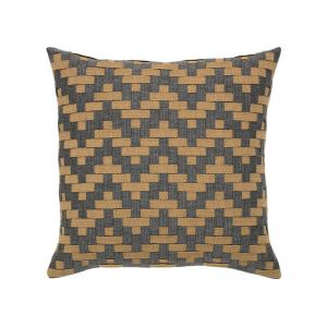 Smoke Basketweave Outdoor Rated Pillow