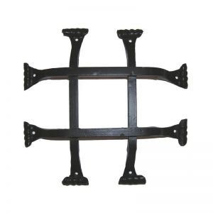 "10""L x 10""H w/ 2"" offset Square Bar Fish Tail Grille"