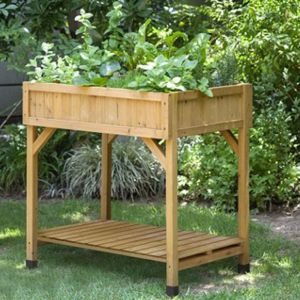 Standing Height Cedar Herb Garden Planter - 8 Compartments