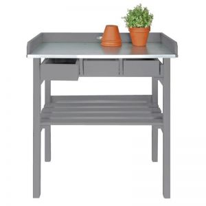 Tall Garden Potting Bench - Grey