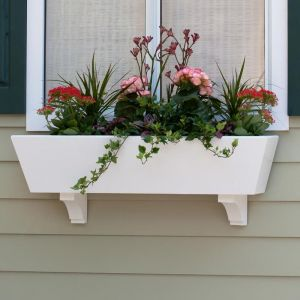 """Tapered Urban Chic Premier Window Boxes w/ """"Easy Up"""" Cleat Mounting System"""
