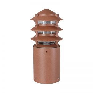 Three Tier Line Voltage Bollard - Small 14 Colors Available