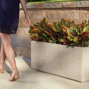 Malabar Tall Rectangular Planter with Toe Kick-Choose from 8 Colors