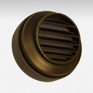 Viking Low Voltage Step Light - Weathered Brass