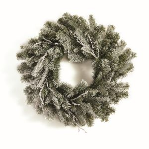 """24"""" Artificial Iced Pine and Twig Wreath"""