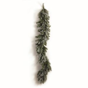 """72"""" Artificial Iced Pine and Twig Garland"""