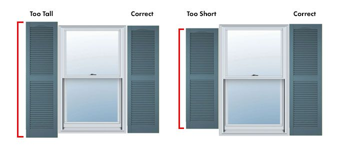 Are your Shutters too tall or too short?
