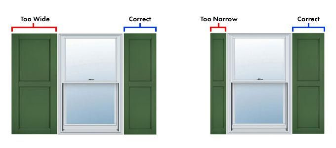 Are your Shutters too wide or too narrow?