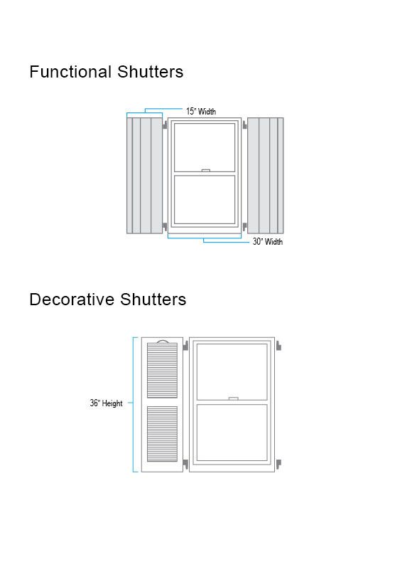 Functional and Decorative Shutter Measure
