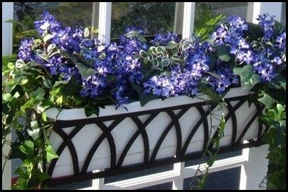 Wrought Iron Window Boxes with Liners