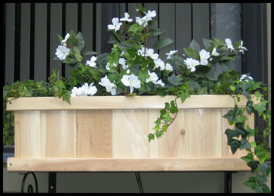 Cedar Tonge and Groove Window Boxes