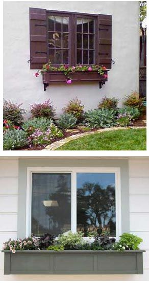 Painting PVC Window Boxes & Shutters